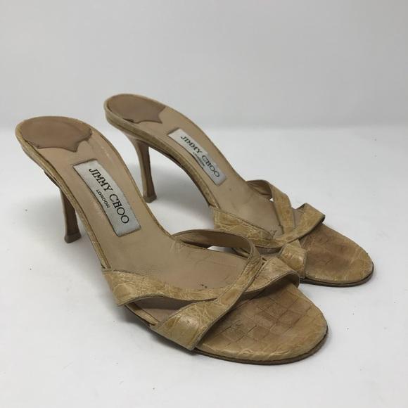 99a0d5f6e8 Jimmy Choo Shoes - Vintage Jimmy Choo slip on crock heels